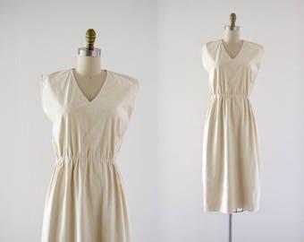 1970's bone midi dress