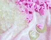 Heart Shaped Pin Backs - CLEAR OR PINK