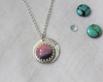 Sterling silver and Mookaite Jasper Pendant - Jewelry 925 Gemstones - READY TO SHIP