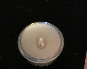 8x6.5mm light pink oval freshwater pearl
