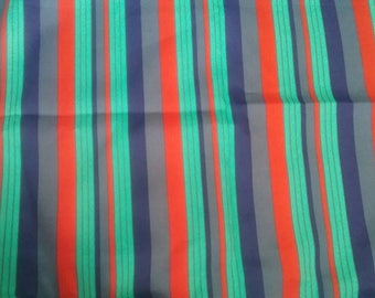 Crazy Guy Stripes Silky Vintage Fabric Yardage