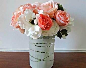 ON SALE Frosted Glass Vase