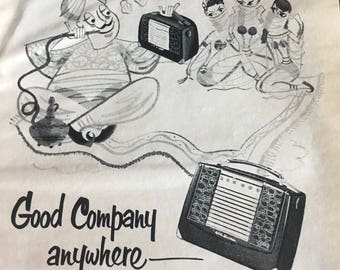 1951 RCA Victor portable radio BX57 model ad 5 1/2 x 7 1/2.