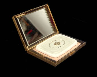 Unused 1964 Max Factor powder compact ~ Regency Thin Line ~ Mid Century Modern deadstock new foundation make up ~ made in Canada 1960s 60s