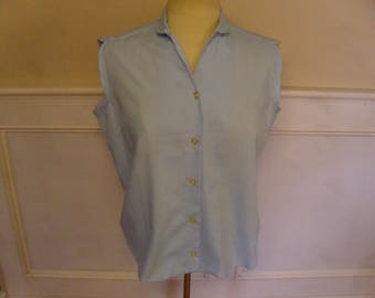 Vintage 1940's/1950's  Sleeveless Blouse  Large