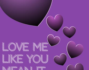Love Me Like You Mean It iPad Background