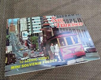 San Francisco, California, Vintage Souvenir Accordion Photo Folder, Booklet, 1960s-1970s