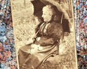 CDV Carte de Visite - Retired Lady in Daytona, Florida