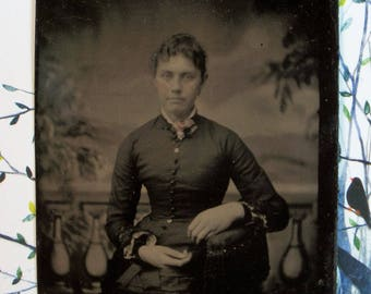 Tintype ~ Demure Lady Frozen in Time