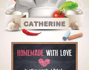 Kitchen Menu Digital Personalized PDF Download Posters