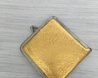 Solid gold snap case mirror