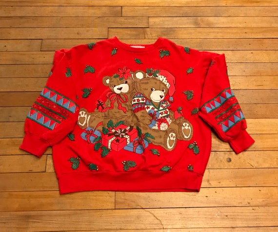 Holiday Bears Ugly Xmas Sweatshirt