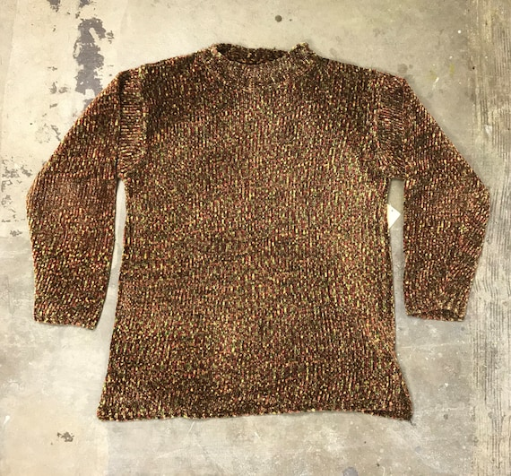 90s Earth Tones Chenille Sweater