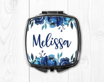 Bridesmaid Gift Ideas Maid of Honor Gift Flower Girl Gift Bride Gift from Sister Bride Gift from Mother Wedding Party Gifts Compact Mirror