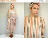 sale 25% off - Two Piece Chiffon Dress  //  80s Blouse and Skirt Set  //  THE CONSTANCE