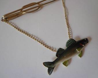 Fisherman's Tie Clasp - Tie Clasp- Men's Tie Clasp - Father's Tie Clasp - Father's Day GIft - Dad's Tie Clasp - Fish Tie Clasp