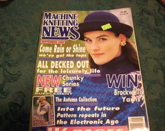 Machine Knitting News September 1994, Machine Knitting Magazine, Machine Knitting Patterns