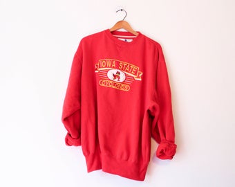 Vintage Red Iowa State University Sweatshirt