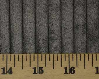 Grey Corduroy Wide Wale Chenille Fabric Accord Steel
