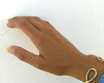 Thin Authentic Gold Ring Band Thumb Marked