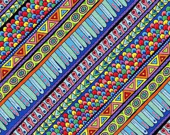 Night Bright Stripe  - Wilmington Prints - Fat Quarter
