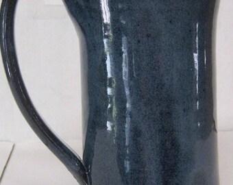 Handmade Pottery Mug Large, HOLDS 18 ounces, Ice Tea glass, wheel thrown