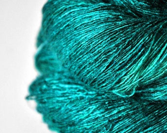 Diving into the Caribbean sea - Tussah Silk Lace Yarn