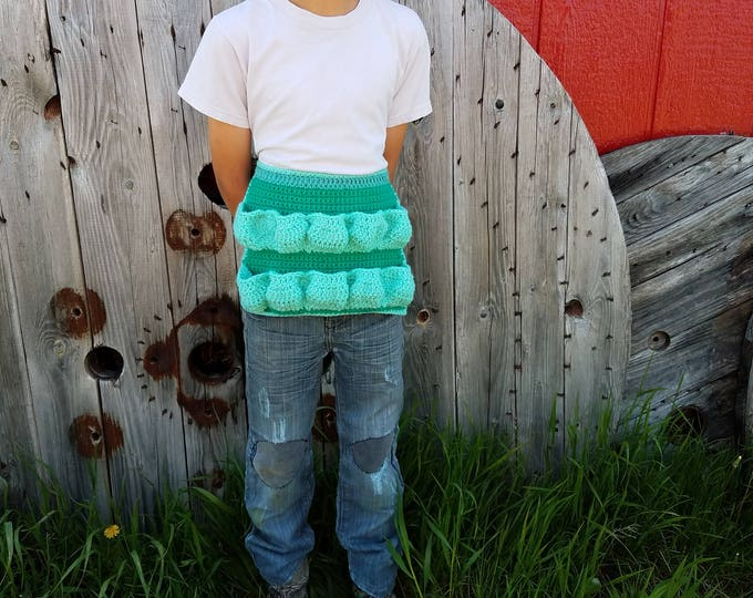 Ready to Ship,Original Egg Apron,Child Apron,Child Egg Apron,Crochet Half Apron,Egg Basket,Kids Egg Collecting,Egg Collecting,Egg Gathering