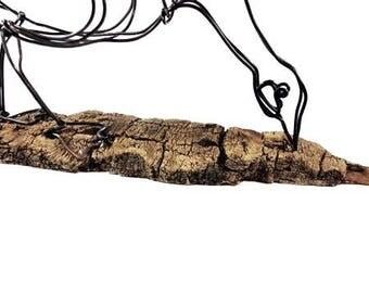 Feeding Goose Wire Sculpture, Wire Art, Minimal Wire Sculpture, Calder Inspired, 539414107