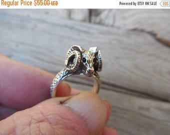 ON SALE Ram ring handmade in sterling silver