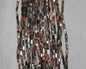 Abalone, Multicolor Abalone, Abalone Rectangle, Abalone Shell, Shell Beads, Natural Shell, Shell Rectangle, Full Strand, 10mm, AdrianasBeads