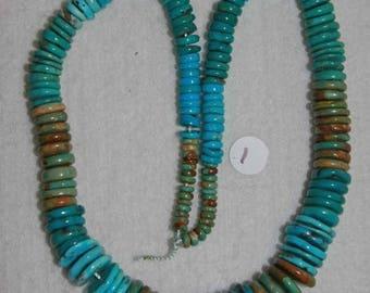 Turquoise, Turquoise  Heishi, Multicolor Turquoise, Graduated Turquoise, Graduated Heishi, Turquoise Necklace, Strand, 5-15mm, AdrianasBeads