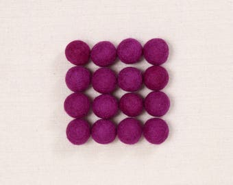 Felt Balls // Grape Purple // Felt Pom, Felt Flower Supplies, Felt Beads, Purple Pom Poms, Garland DIY, Mobile Crafts, Children's Projects