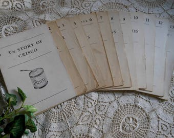 Story of Crisco Booklets Cookbook Mail Order Vintage at Quilted Nest