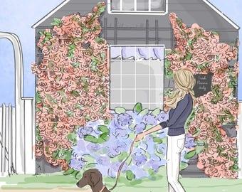 Wall Art for Women - Weekend in Nantucket - Hello Weekend - Wall Art Print -  Digital Art Print -  Wall Art -- Print