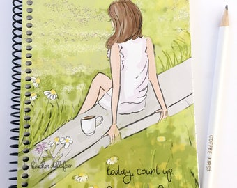 Gratitude Journal - Count Up the Good Things - Notebooks - Gifts for Women Teachers -