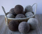 Wool Dryer Balls - Eco Friendly - Handmade Gift - Natural Cleaning - Organic Cleaning - Felted Dryer Balls - Healthy Home - Laundry Balls