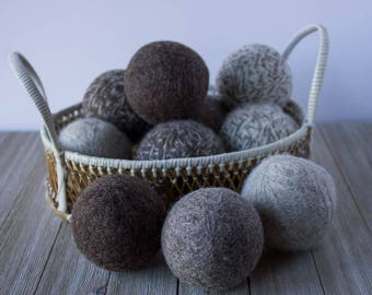 Wool Dryer Balls, Eco Friendly, Handmade, Large Natural Wool Dryer Balls