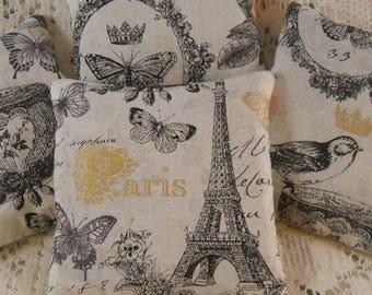 French Market Lavender Sachets Reverse to Spring Birds Shabby Cottage Chic