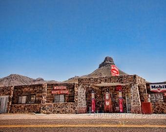 Gas Station, husband wall art, boyfriend wall art, grandfather gift, wall art, gas station art, gift, vintage, Route 66, Arizona, man gift