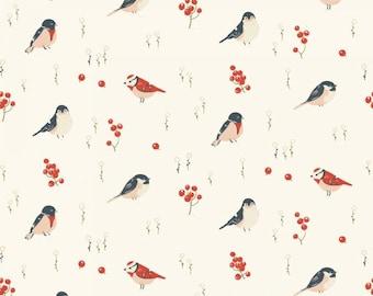 Organic KNIT Fabric - Birch Little - Love Birds Knit