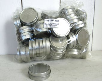 Herbal Tins 1 Ounce Metal Balm Salve Containers Bag of 50