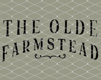 STENCIL Olde Farmstead 10x4.5