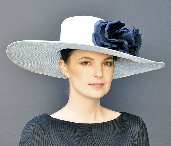 Kentucky Derby Hat, Wedding Hat, Wide Brim Hat, Elegant Hat, Women's Formal Hat, Ladies Dressy Hat, Occasion Hat
