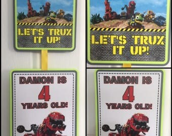 DinoTrux Party Door Sign