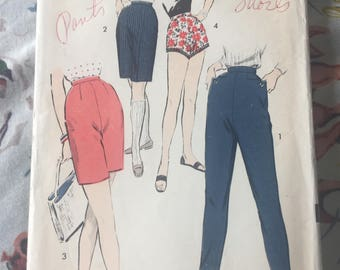 Vintage 1950's ADVANCE Shorts and Pants Pattern #8341