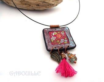 Ceramic spirit polymer necklace