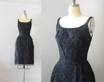 1960's Little Black Lace Dress