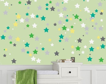 Star Wall Decals Non-toxic Fabric Wall Decals for Kids REUSABLE REPOSITIONABLE Kids Decals, a113