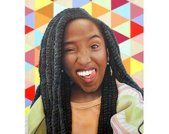 Cheeky Beauties - Silly Goose - Pop Art - ART PRINT - 8 x 10 - By Toronto Portrait Artist Malinda Prudhomme